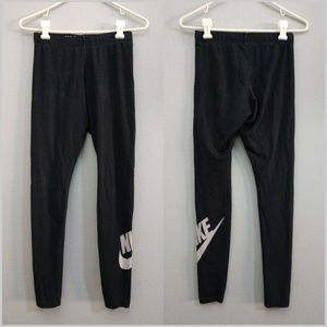 Nike Small Just Do It Leggings Black Graphic